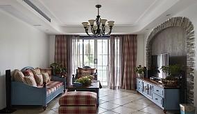 精美面积78平小户型客厅地中海装修实景图