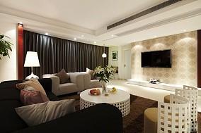 87平米现代小户型客厅实景图片欣赏