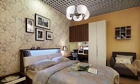 精美面积90平小户型卧室现代装修欣赏图