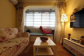 热门小户型客厅田园装修设计效果图片