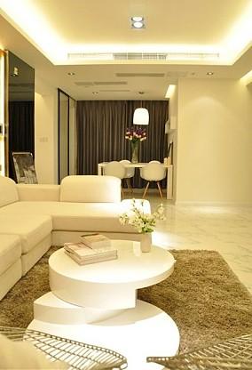 热门86平米简约小户型客厅效果图片欣赏