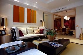 73平米二居客厅东南亚装修设计效果图片大全