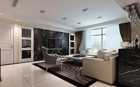 精选84平方二居客厅现代设计效果图
