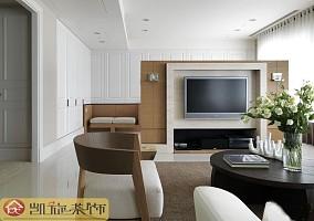 热门80平米二居客厅简约装饰图