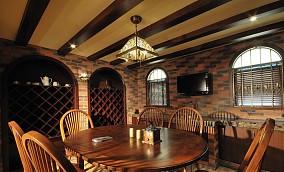 2018精选面积89平美式二居餐厅装修设计效果图