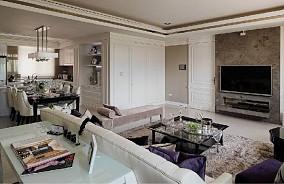 面积87平小户型客厅欧式装修实景图片欣赏