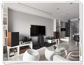 77平米简约小户型客厅装饰图片欣赏