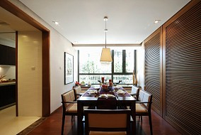 东南亚二居餐厅装修实景图片