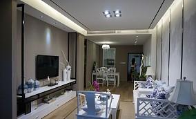 76平米中式小户型客厅装修实景图