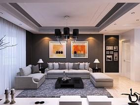 热门面积72平小户型客厅现代装饰图片欣赏