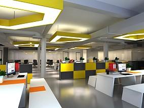 办公空间设计吊顶图