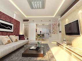 精选面积78平小户型客厅简约效果图片