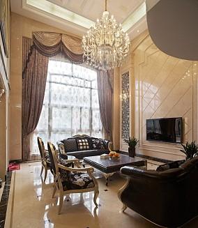 2018精选大小137平别墅客厅欧式装修设计效果图片欣赏
