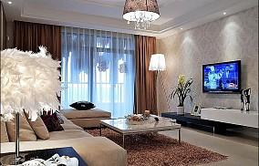 精美76平米二居客厅现代欣赏图片