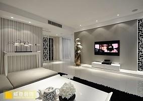 热门简约一居客厅实景图片