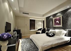 面积90平小户型卧室现代装修图