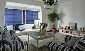 精美71平米地中海小户型客厅装修效果图片大全