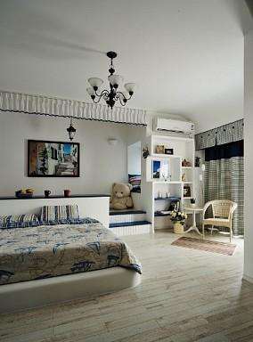 热门85平米地中海小户型卧室装修欣赏图