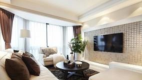 面积87平小户型客厅现代效果图