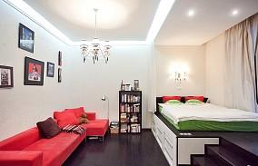 面积85平小户型卧室简约装修欣赏图