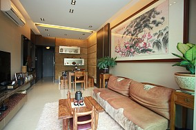 201885平米中式小户型客厅欣赏图片