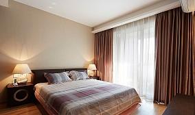 现代简约卧室装修窗帘效果图