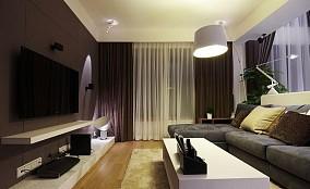 2018面积87平小户型客厅现代装修设计效果图片欣赏