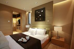 日式简约卧室床头背景墙效果图