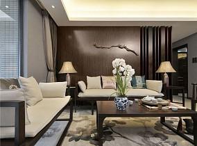热门78平米二居客厅中式欣赏图