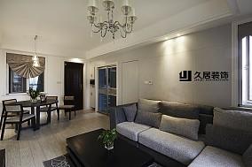 精美面积108平简约三居休闲区装修设计效果图片