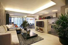 2018精选面积72平简约二居客厅装修效果图片大全