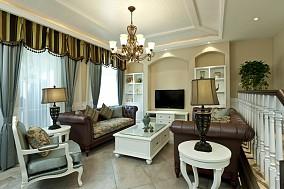 121平米新古典复式客厅装修设计效果图片欣赏