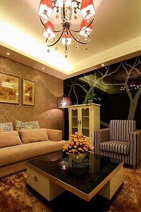 精美面积76平小户型客厅现代实景图片欣赏