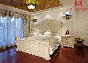 精选面积135平复式卧室田园装修效果图