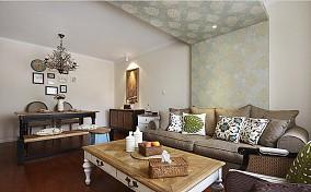 精美面积88平美式二居客厅实景图片大全