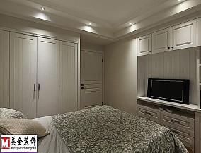 2018精选103平米三居卧室美式实景图