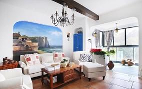 精美地中海二居客厅装修图片大全