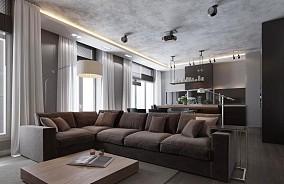 精美大小103平现代三居客厅装修设计效果图片大全
