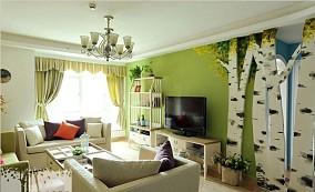 田园风格电视墙设计效果图