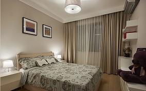 2018精选美式二居卧室装修设计效果图