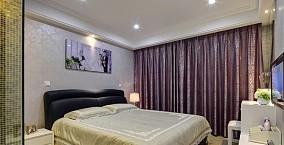 婚房卧室窗帘装修效果图