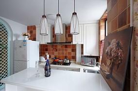 田园小户型厨房吧台装修效果图