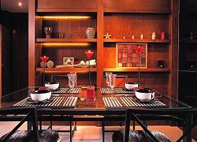 现代东南亚风格装修餐厅图片