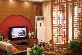 2018精选面积86平小户型客厅中式装修实景图片