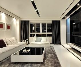 精选112平米现代复式客厅实景图片