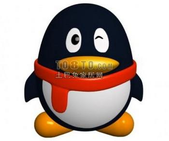 qq头像小企鹅3d模型下载