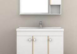 安华卫浴黄金海岸浴室柜 盛夏里的一抹净白