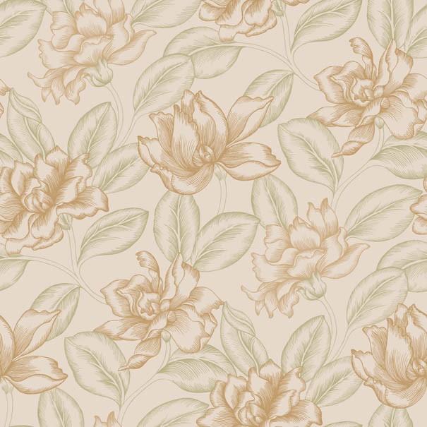 欧式风格墙纸的花型