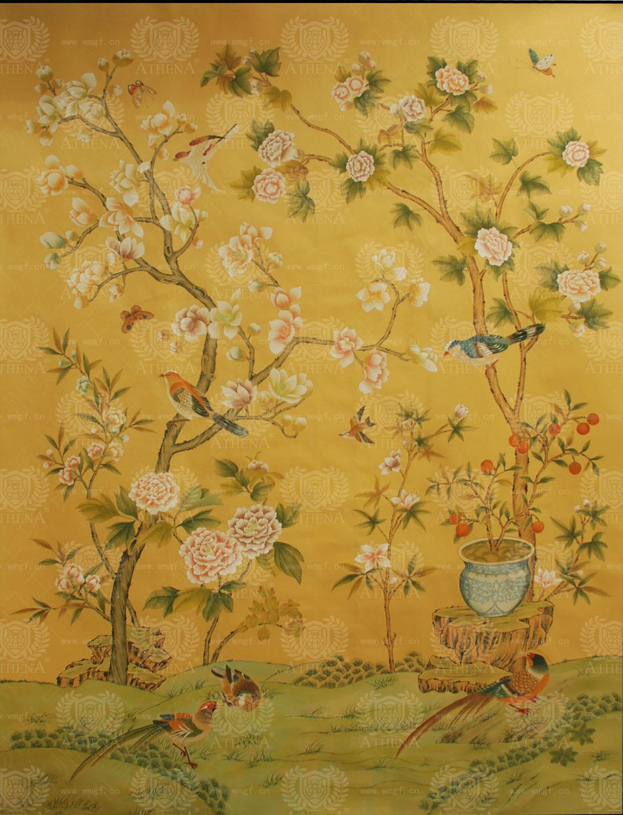 时尚花卉 面层材质:丝绸墙纸 面层工艺:其他 图案风格:新中式图片