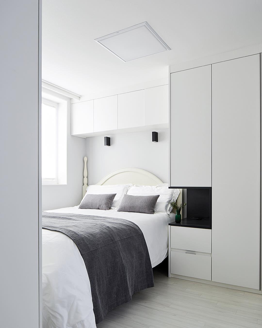 卧室床北欧极简卧室设计图片赏析